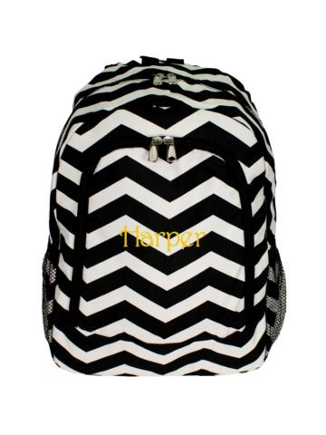 Black and White Chevron Backpack