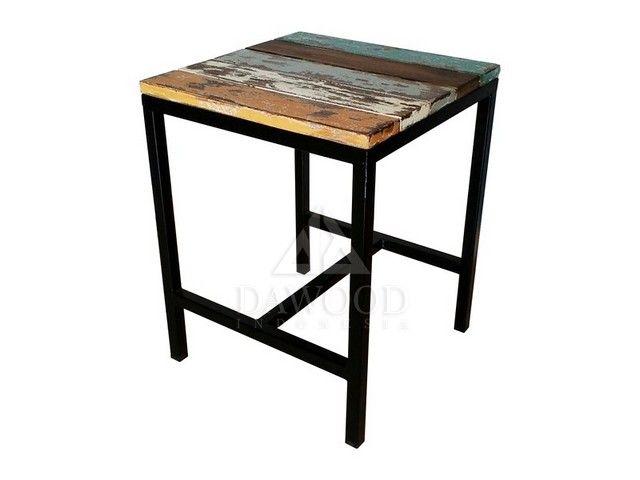 Industrial Low Frame Bar Stools | DRER-003 | Bar Stool, height bar stool, industrial bar stool, outdoor bar stool, steel bar stool, stool wood