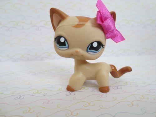 Littlest Pet Shop 1024 Caramel Curl Short Hair Cat Pink