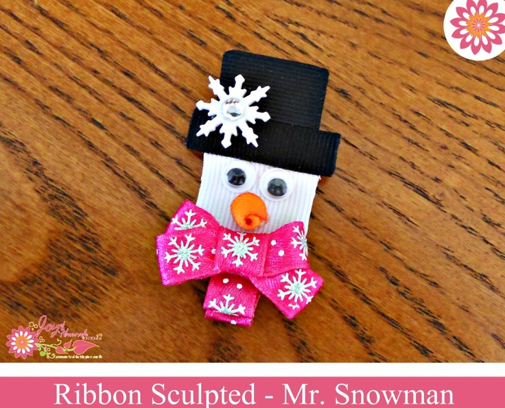 Snowman Character Bow / Ornament