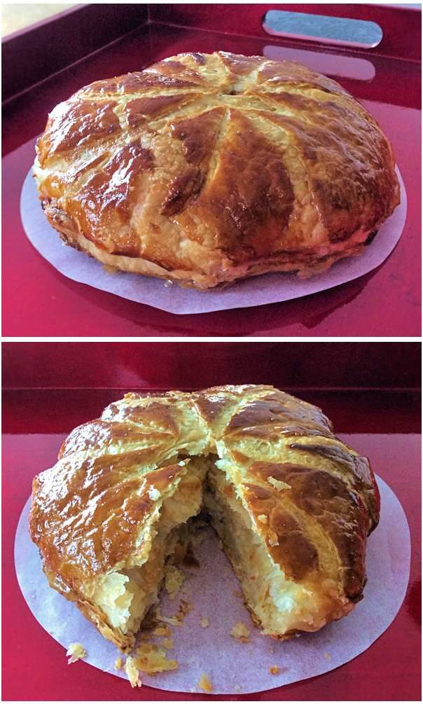Galette des rois, an elegant treat for the night of Epiphany, or any other time during the twelve days of Christmas.