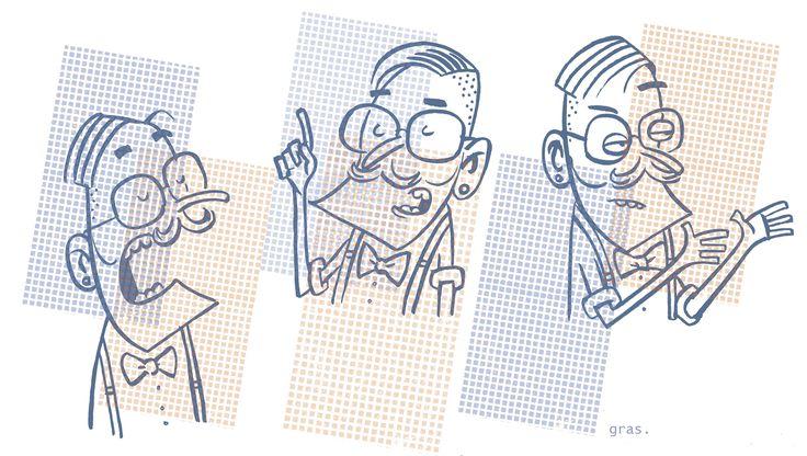 dibuixos presentador - Extra series El Jueves. gras