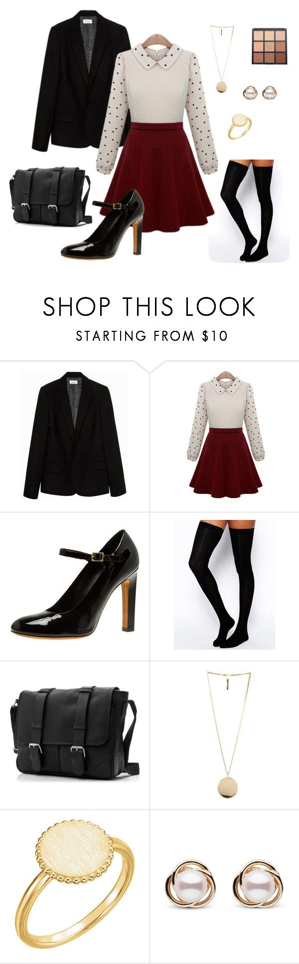 """Spencer Hastings Preppy"" by janeth-pq on Polyvore featuring Zadig & Voltaire, ASOS, Givenchy, Trilogy and Morphe"