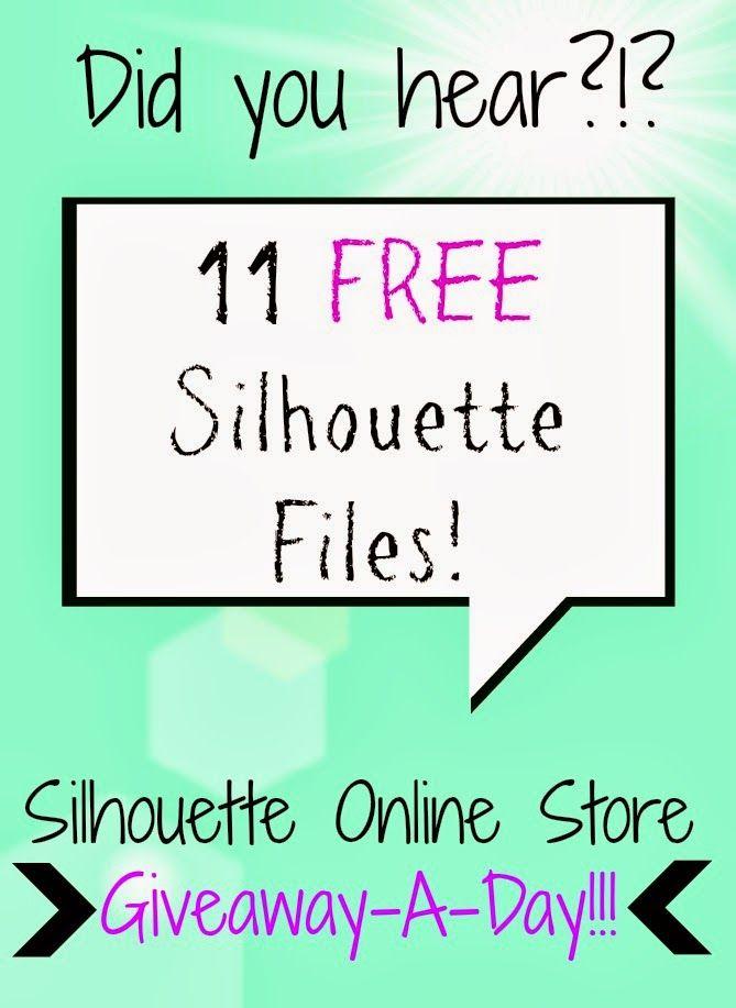 11 Free Silhouette Files in 11 Days ~ Silhouette School