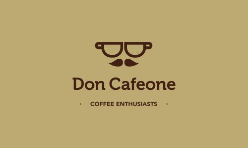 Don Cafeone  Don Cafeone. Logo for a coffee enthusiasts club. --->OR Logo for hipsters. >_