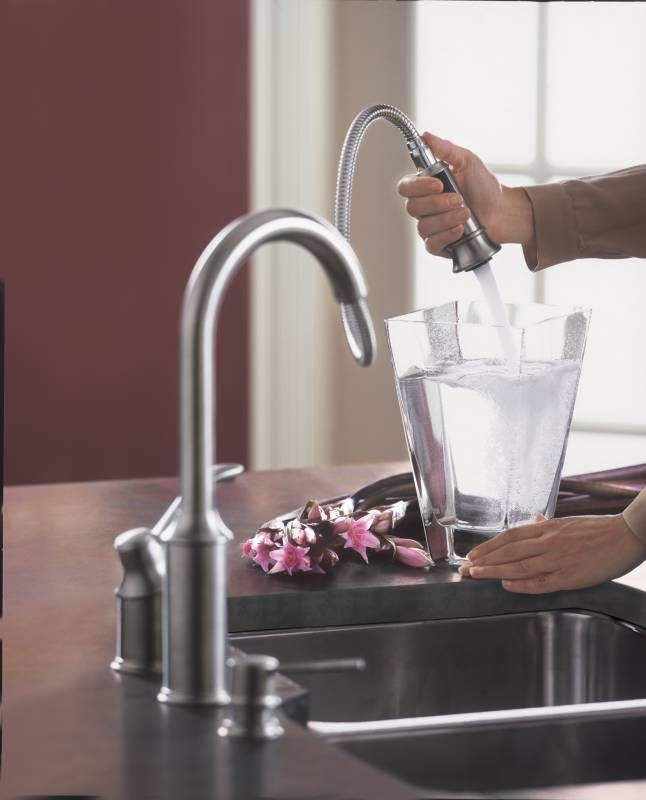 The Aberdeen Pulldown Faucet In A Classic Stainless Finish. #kitchen