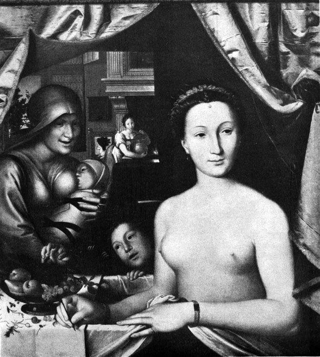Искусство 16 века Франсуа Клуэ. Диана Пуатье. Ок. 1571 г. Вашингтон, Национальная галлерея.