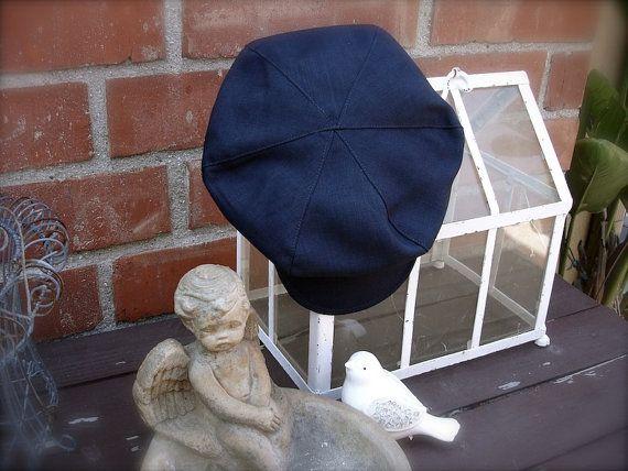 midnight blue  Newsboy hat newspaper boy hat midnight blue