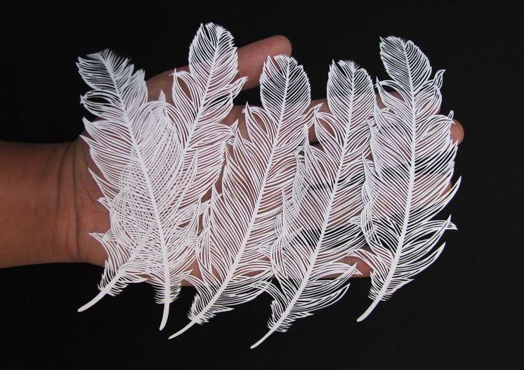 Magnifiques plumes de papier