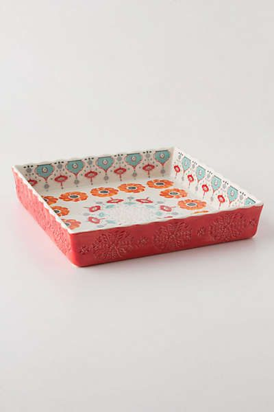 Anthropologie - Poppy Ring Brownie Dish - want not need, but really want