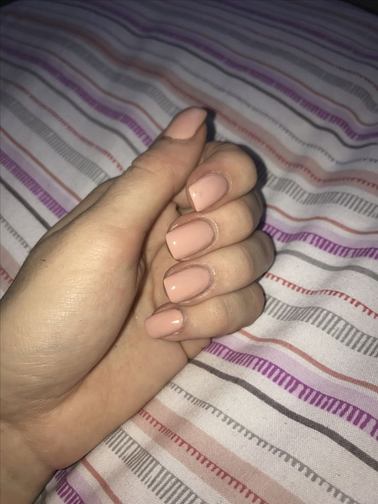 So happy with my manicure #nails #manicure #nude