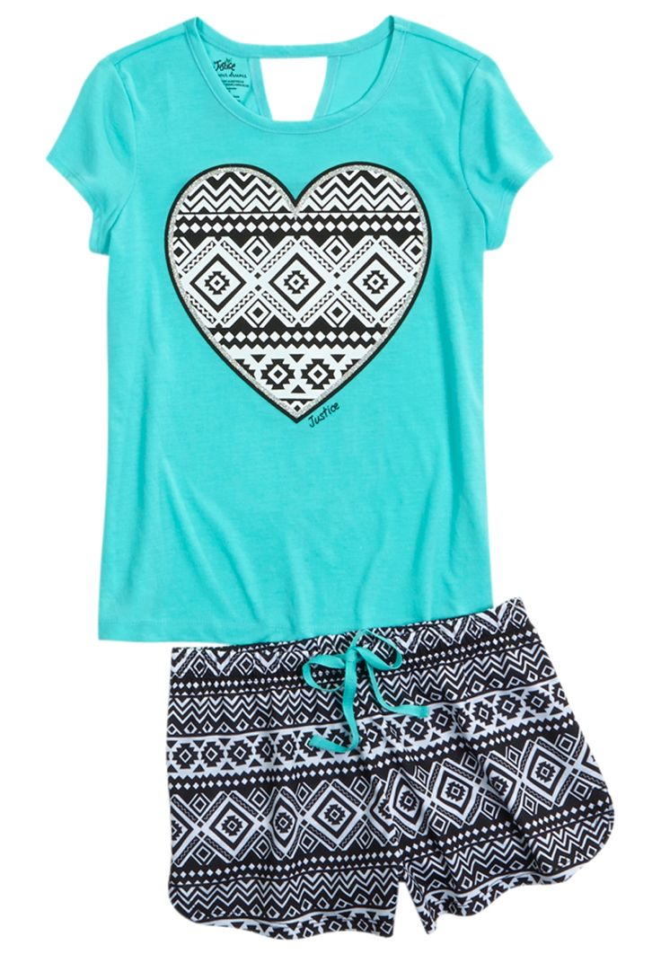Initial Tribal Pajama Set (original price, $26.90) available at #Justice