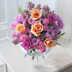 Purple Shimmer Rose & Carnation