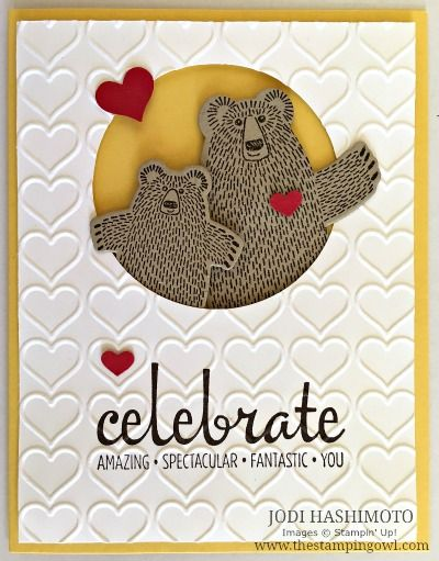 Cutest Bear Hugs card I've seen by the Stampin Owl. Stampin Up!