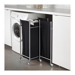 The laundry bag does not absorb moisture or odors from the laundry because it is made of polyester. Easy to move – casters included. Easy to keep clean since you can remove the laundry bag and wash it in the washing machine. You can put GRUNDTAL laundry bag with casters together with GRUNDTAL cart as they have the same measurements.