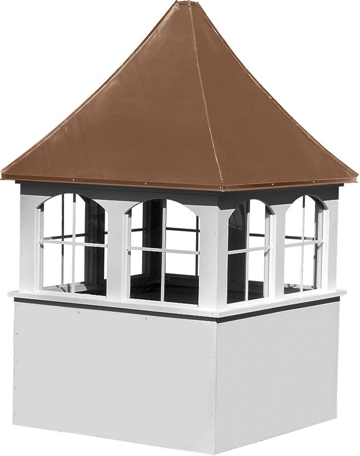 Buy Large Square Vinyl Cupola With Windows And Concave Copper Roof Copper Roof Cupolas Copper Roof Cupola