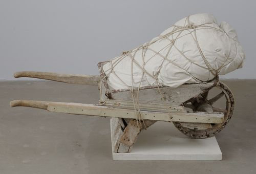 Christo (Christo Javacheff). Package on Wheelbarrow. 1963