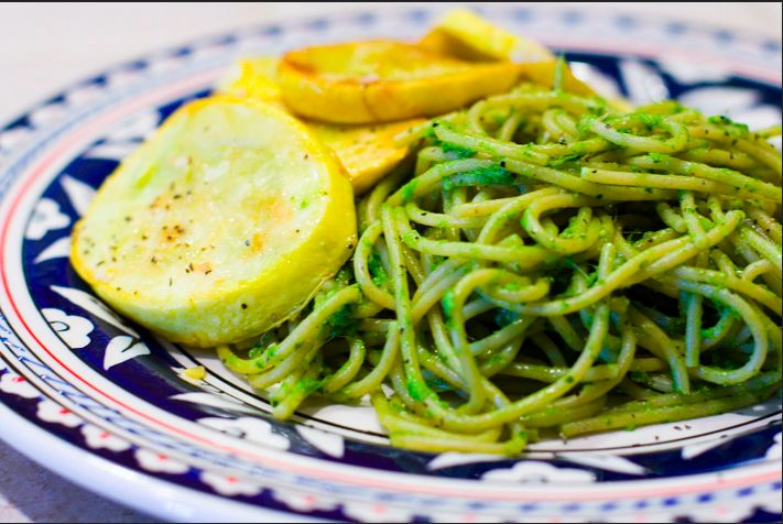 What?! Wheatgrass pesto?  Healthy and delicious!