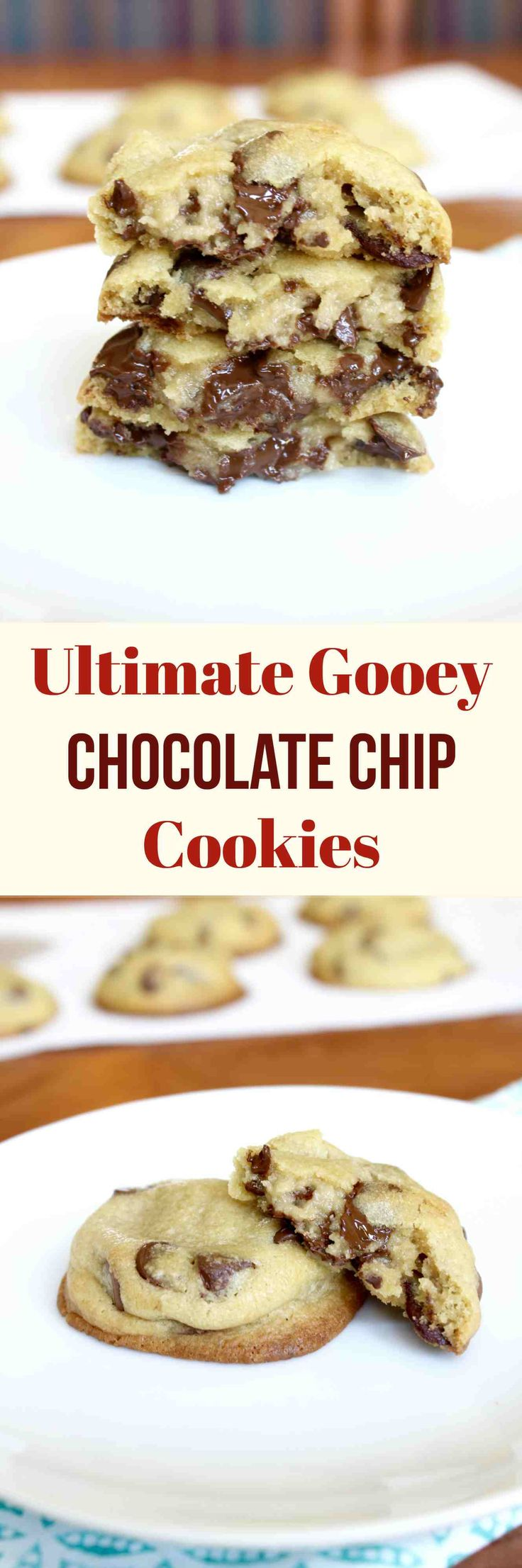 The gooiest chocolate chip cookies ever! Chocolate chip cookies stuffed with eggless chocolate chip cookie dough!