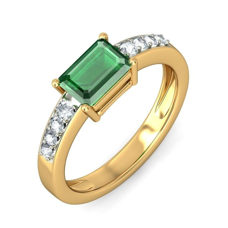 1.50 Carat Emerald and Diamond Engagement Ring in White Gold ...