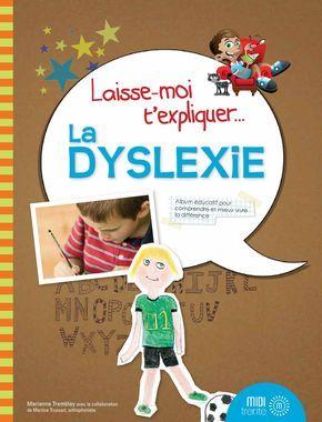 La collection «Laisse-moi t'expliquer » présente des albums éducatifs destinés aux enfants d'âge scolaire – et à leurs parents. Un peu à la manière d'un collage réalisé par un enfant, « Laisse-moi t'expliquer… la dyslexie » présente l'histoire d'un garçon dyslexique qui raconte, dans ses mots et à l'aide d'images amusantes, comment il vit avec cette réalité. Agrémenté de plusieurs trucs et conseils avisés, ce livre est conçu expressément pour plaire aux enfants et pour les aider à mieux…