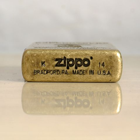 Japanese Antique Brass The Expendables Zippo Lighter Limited Edition