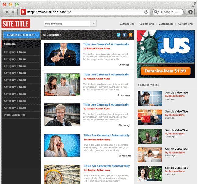 The best WordPress video theme. TubeClone.TV designs, developers ...