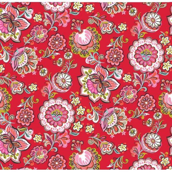 Flores rojas de Caperucita roja