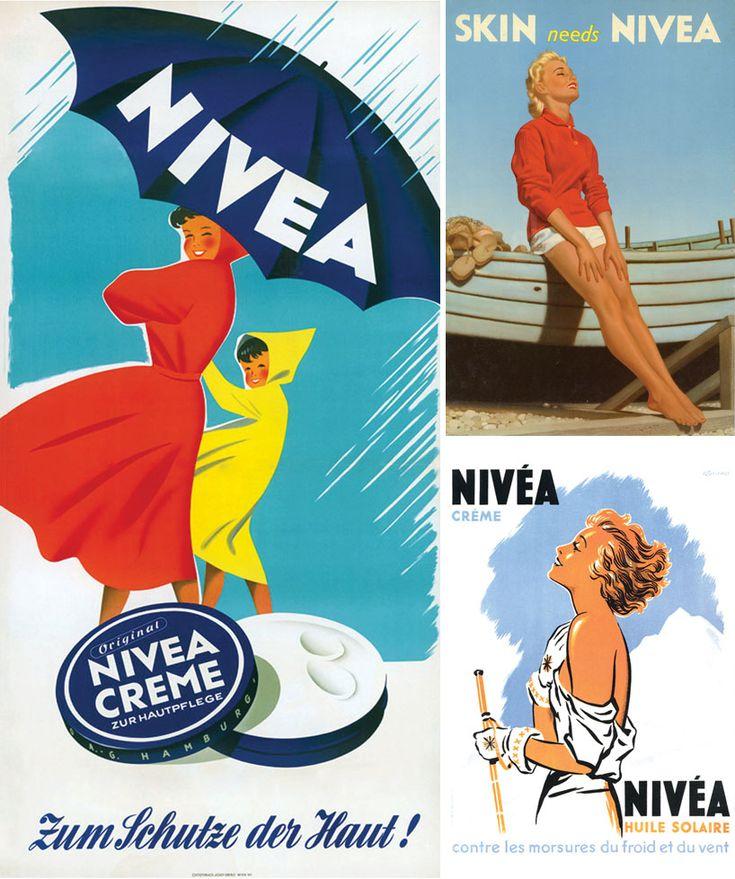 :: nivea creme  advertising :: germany postwar · UK 1958 · france ::