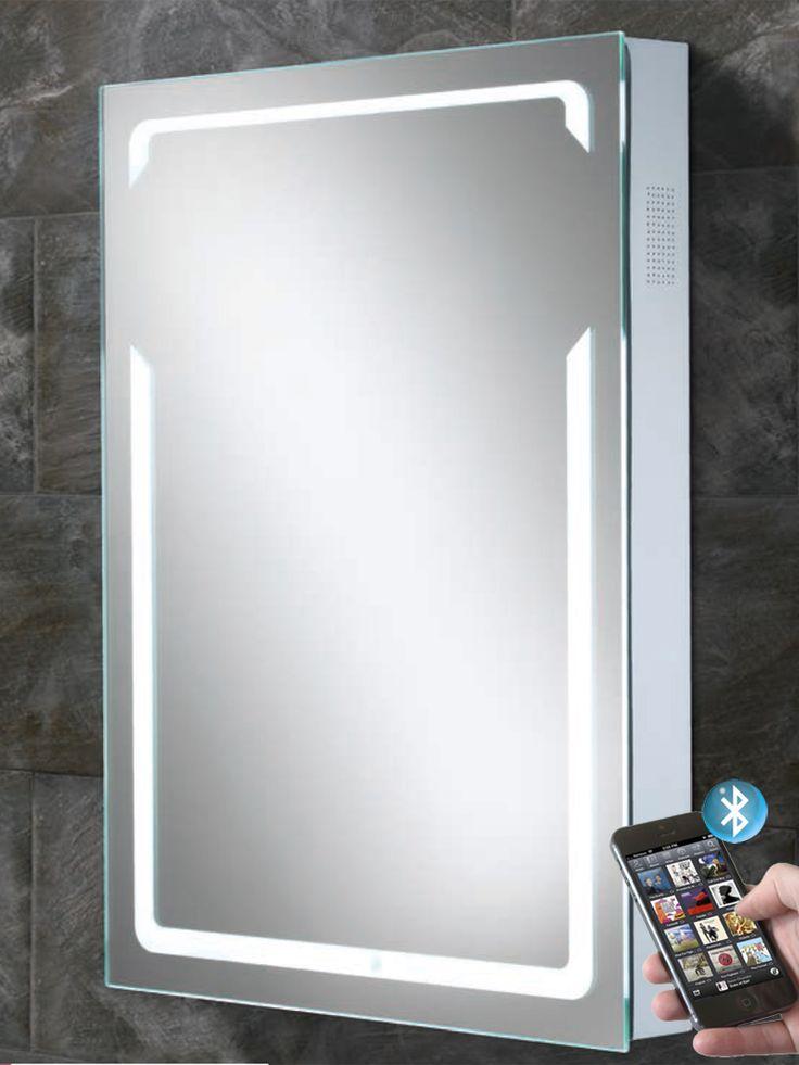 Vibe Illuminated Bluetooth Bathroom Mirror With Built In Speakers Hib