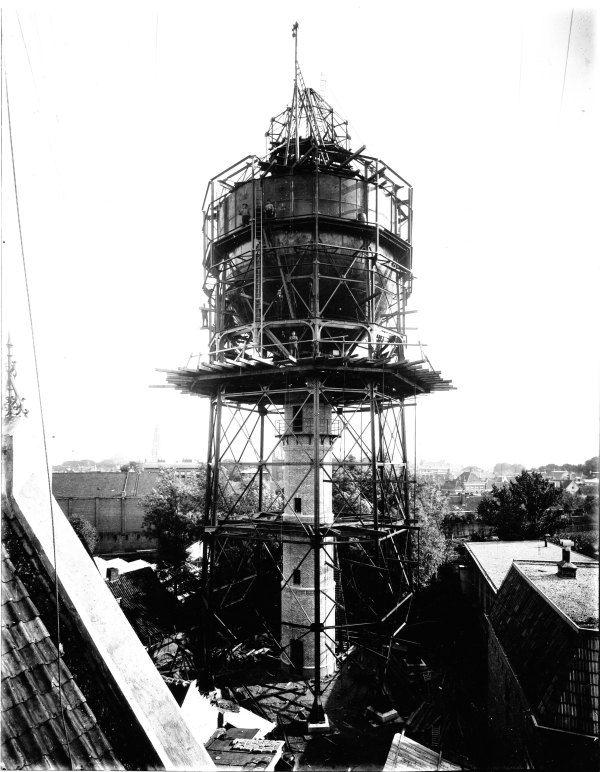 bouw watertoren in 1907, collectie RGA