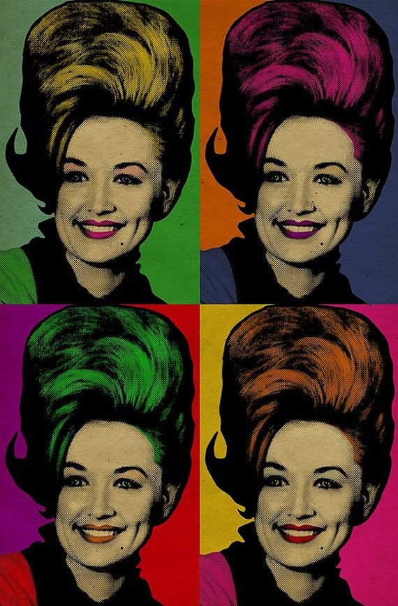 Dolly Parton poster. Pop art. 12x18. Country by UncleGerturdes, $22.00