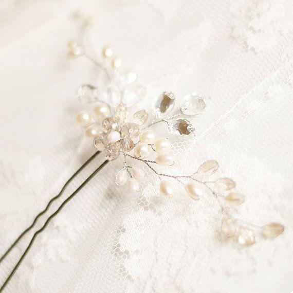 Bridal Hair Pin. Wedding Hair Pin. Pearl Hair Pin by SvetloDesign