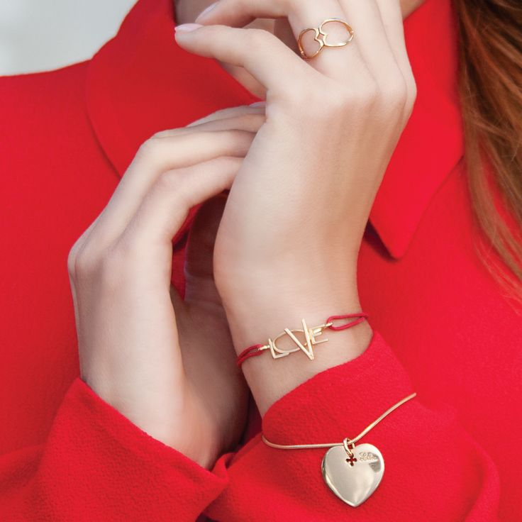 A love declaration - outstanding love talisman. Perfect gift for Valentine's Day. #lilou #bracelet  #love #valentinesday #silver #goldplated