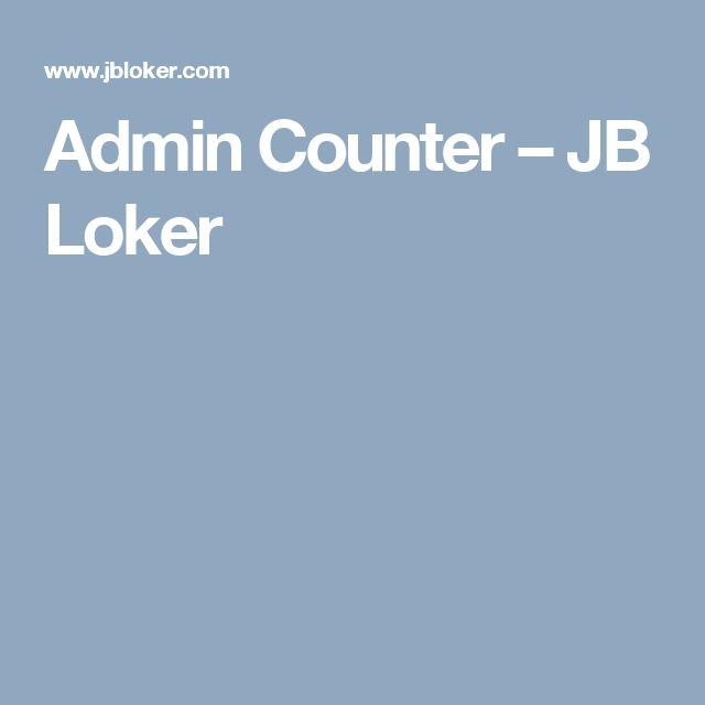 Admin Counter – JB Loker