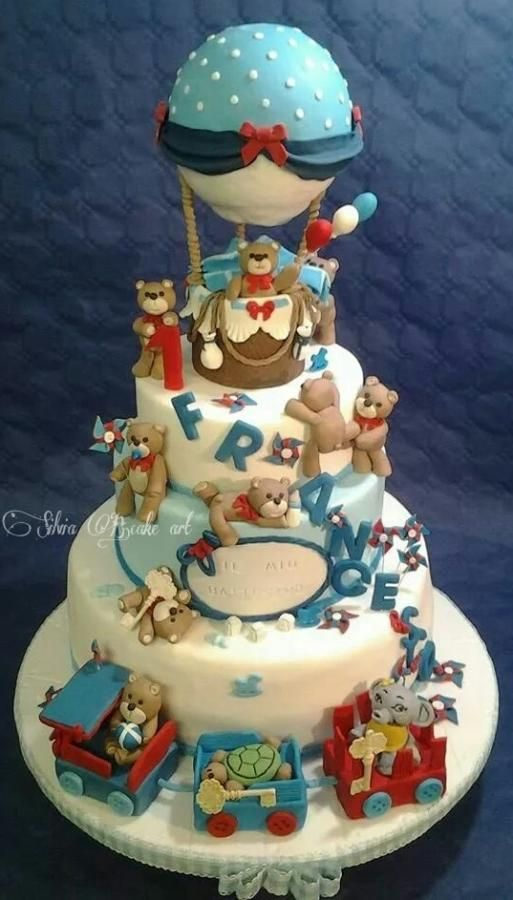 Gli orsetti in festa by silvia B.cake art