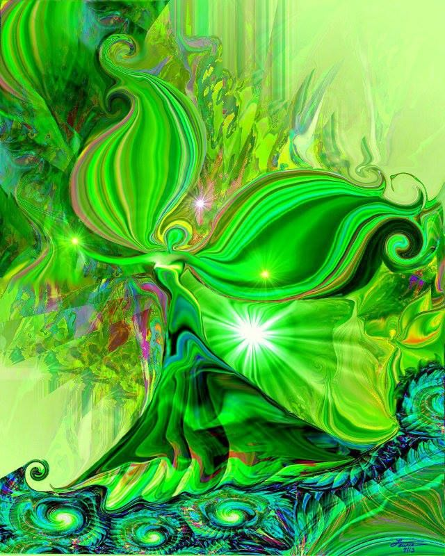 """""""Heart Healer"""" - The green heart chakra is the bridge between the upper and lower chakras."""