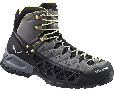 Salewa Alp Flow Mid GTX Hiking Boot - Men's Smoke/Yellow 13.0