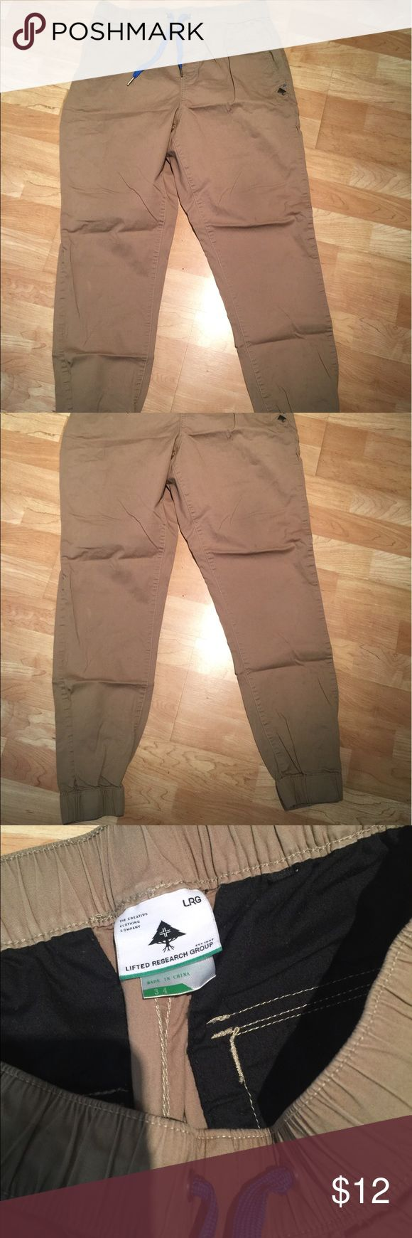 Lrg men's 34 joggers Lrg men's 34 joggers. Small stains as shown. Bundle and save. Lrg Pants Sweatpants & Joggers