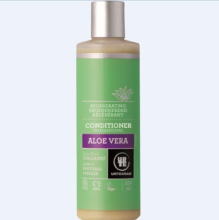 URTEKRAM Odżywka do włosów aloesowa regenerująca 250 ml - Nieprzyzwoicie naturalny sklep dla kobiet lubiących siebie