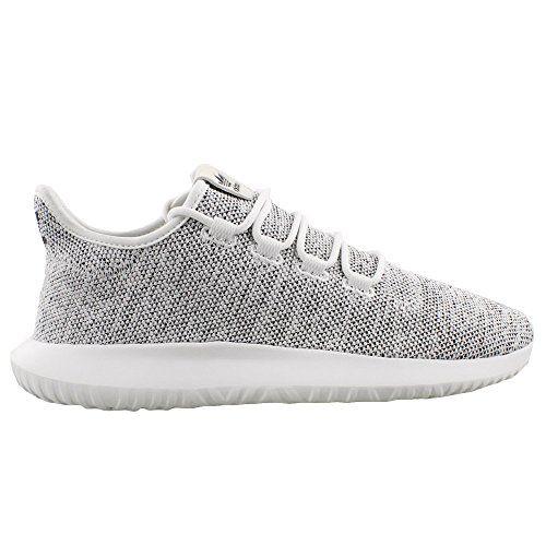 adidas Originals Men's Tubular Shadow Running Shoe, White/White/Black, 11 M US