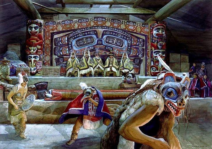 Маски индейцев хайда (Северная Америка) | Экзотические Маски Мира