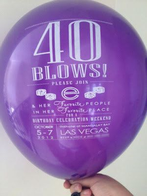 RESERVED for Gina - 40th Birthday Invitation - Digital File for Balloon Invitation Printing via Etsy