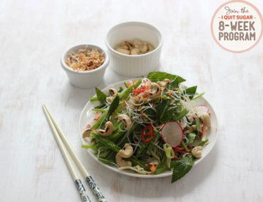 IQS 8-Week Program - Asian Noodle Salad with Pickled Vegetables. Pickled vege good for the gut, great lunch option!