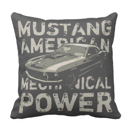 Mustang mechanical power throw pillow - fun gifts funny diy customize personal