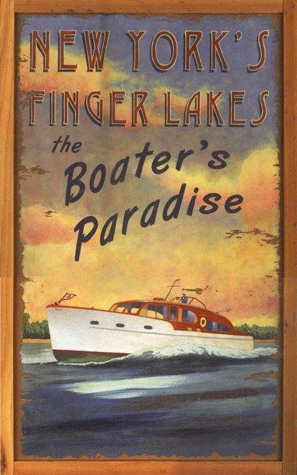 Boater's Paradise Custom Art Sign