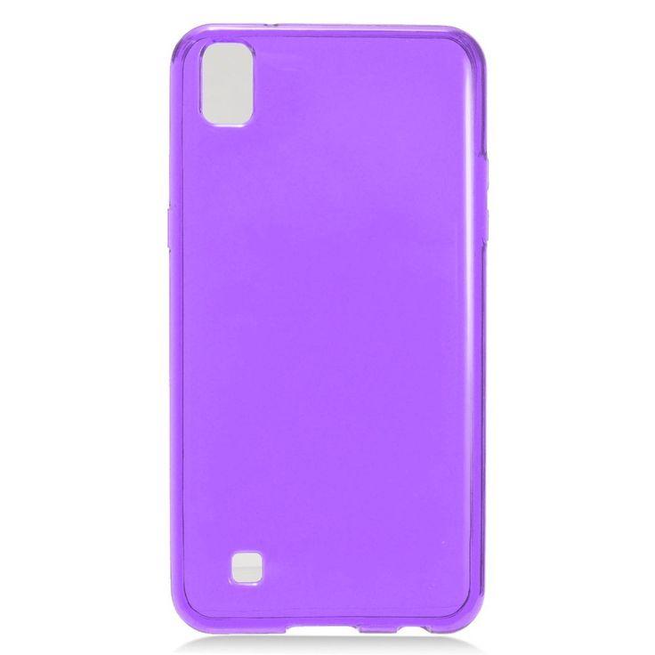 EGC Frosted Skin Slim-fit Flexible LG X Power Case - Purple