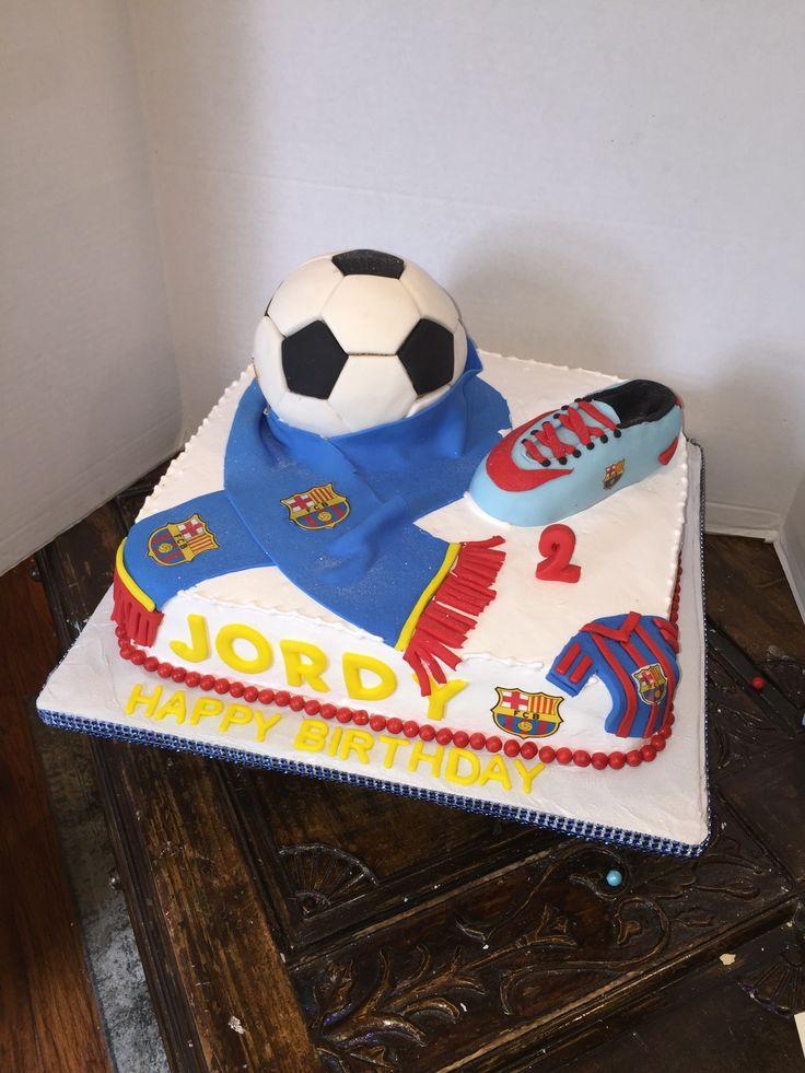 Barcelona's cakes pastel del Barcelona soccer cake