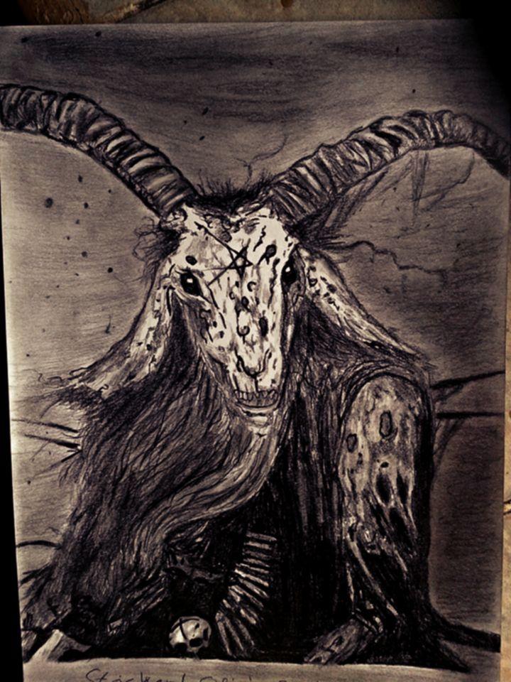 #goat #demon #darkart #blackmetal #pentagramm #art #draw #drawing