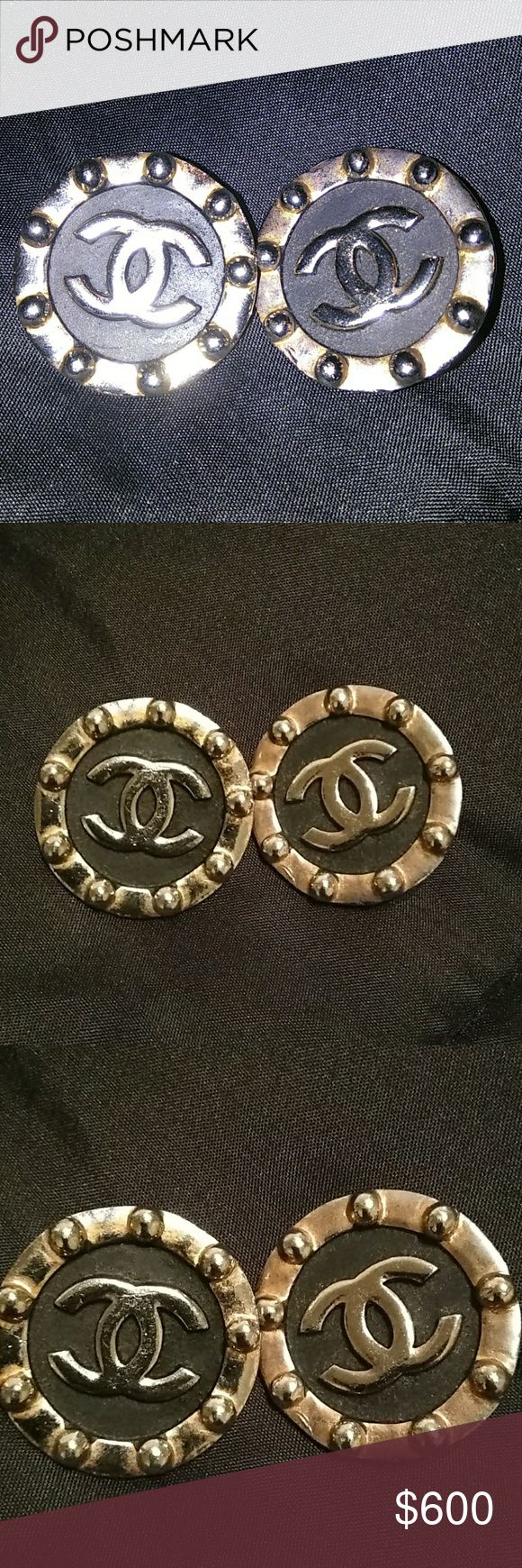 Spotted while shopping on Poshmark: Vintage Chanel earrings MAKE AN OFFER! #poshmark #fashion #shopping #style #CHANEL #Accessories